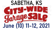 Sabetha, KS Spring CITY-WIDE Garage Sales June (10) 11-12, 2021  SHOPPING FUN!!