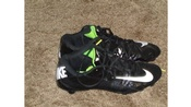 Like new (wore one month) men's size 10 Nike football cleats