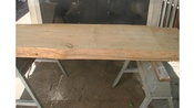 23 x 68 x 31/2 Inch Ponderosa Pine Slab Fireplace Mantel Unfinished
