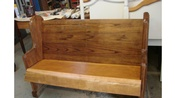48 Inch Oak Church Pew Bench With Pine Seat