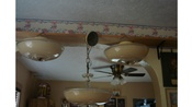 3 Round 13 Inch Vintage 3 Bulb Ceiling Lights