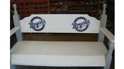 Kansas City Royals Wooden Bench