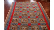 Hand Sewn 70 x 96 Inch Wildlife Quilt Never Been Washed