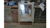 Vintage Mirror and Mirror Yoke in Good condition