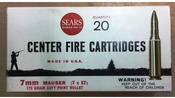 2 Boxes of Sears 7MM Mauser (7 x 57) Loaded Ammo