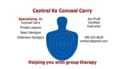 SALINA, KS AUGUST 20th  - Conceal Carry Class