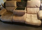 Reclining sofa with vibrators
